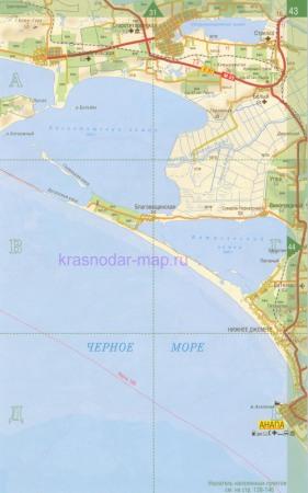 Подробная Карта Анапы