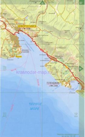 Подробная карта окрестностей